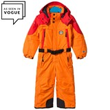 Poivre Blanc Orange and Red Embroidered Ski Suit
