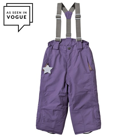 Purple Witte Ski Pants with Removable Braces