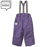 Mini A Ture Purple Witte Ski Pants with Removable Braces