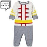 Stella McCartney Kids Grey and Cream Jagger Soldier Knit All-in-One