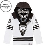 The BRAND Make A Save Black and White Goalie Hoodie