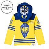 The BRAND Make A Save Yellow and Blue Goalie Hoodie