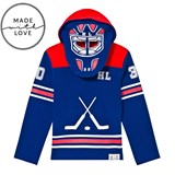 The BRAND Make A Save Red and Blue Goalie Hoodie