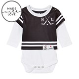 The BRAND Make A Save Black and White Long Sleeve Onesie