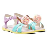 Sophia Webster Mini Multi-Coloured Leather Loni Sandals