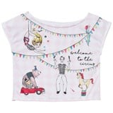 Love made Love White and Pink Circus Print Tee