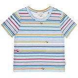Paul Smith Junior Blue Tape Stripe Print Tee