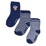 Mayoral Pack of 3 Navy Dog and Stripe Socks