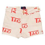 The Animals Observatory White Tao Logo Puppy Shorts