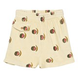 The Animals Observatory Soft Yellow Fruit Print Poodle Shorts