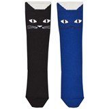 Bang Bang Copenhagen Black and Blue Cat Socks