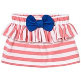 Bang Bang Copenhagen Pink and White Stripe Ruffle and Bow Skirt