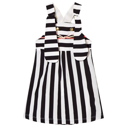 Bang Bang Copenhagen Black and White Stripe Bunny Face Ninka Pinafore