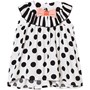 Bang Bang Copenhagen Black and White Spot Lightweight Bow and Frill Dress