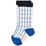 Tinycottons Off-White and Blue Grid Socks