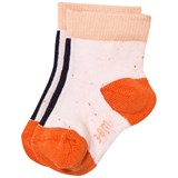 Tinycottons Pale Pink and Navy Line Melange Socks
