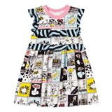 Fendi Space Monster Print Frill Dress