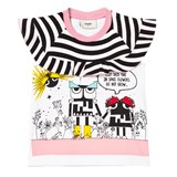 Fendi Space Print Frill Tee