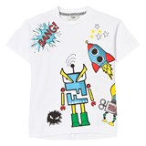 Fendi White Space Monster Print Tee