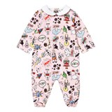 Fendi Pink Monster Print Babygrow