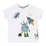Fendi White Monster Print Baby Tee