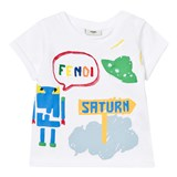 Fendi White Space Print Tee