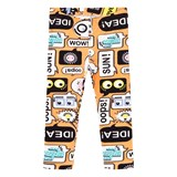 Fendi Orange Text Print Leggings