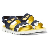 Fendi Navy Denim Monster Sandals