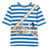 Stella McCartney Kids Blue Striped Pirate Print Tee