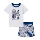 Little Marc Jacobs White Branded Tee and Printed Shorts Pyjamas