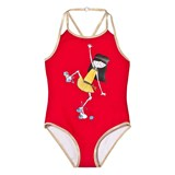 Little Marc Jacobs Red Miss Marc Rollerskating Sprint Swimsuit
