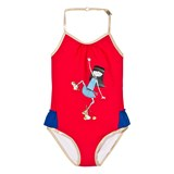 Little Marc Jacobs Red Miss Marc Rollerskating Frill Swimsuit