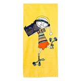 Little Marc Jacobs Yellow Mr Marc Rollerdisco Towel