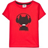 Karl Lagerfeld Kids Red Bad Cat Print Tee