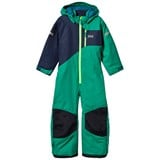 Helly Hansen Green and Navy Kids Powder Ski Suit