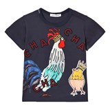 Dolce & Gabbana Navy Cockerel and Chick Applique Tee