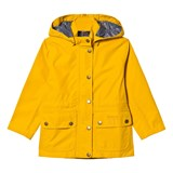 Barbour Yellow Cirrus Waterproof Detachable Hooded Jacket with Raindrop Lining