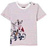 Catimini Multi Stripe and Dog Print Tee