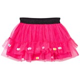 Catimini Pink Tulle Tutu Skirt with Pom Pom Detail