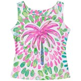 Kate Mack - Biscotti Multi Sequin and Palm Print Sleeveless Top
