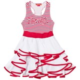 Kate Mack - Biscotti Red and White Stripe Tiered Dress