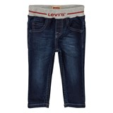 Levi's Mid Wash Pull Up Branded Jean