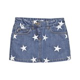 Moschino Mid Wash Star Embroidered Denim Skirt