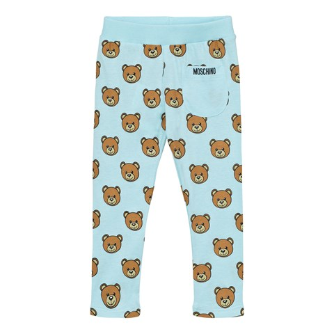 Moschino Blue Bear Print Leggings