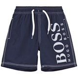 BOSS Navy Branded Swim Shorts