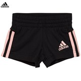 adidas Black and Pink Stripe Shorts