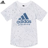 adidas White Branded Tee