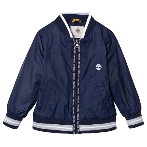 Navy Branded Hooded Windbreaker