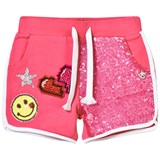 So Twee Pink Sequin Front and Smiley Shorts