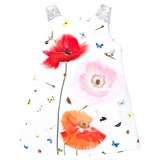 Anne Kurris White Poppy and Bird Print Dress